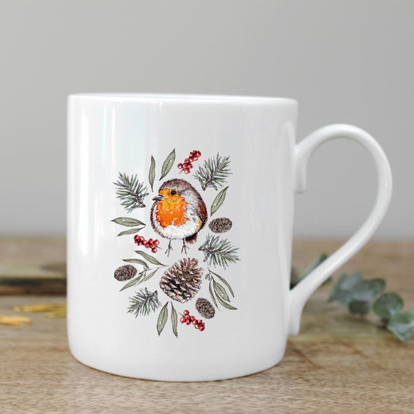 Toasted Crumpet Winter Robin Mug