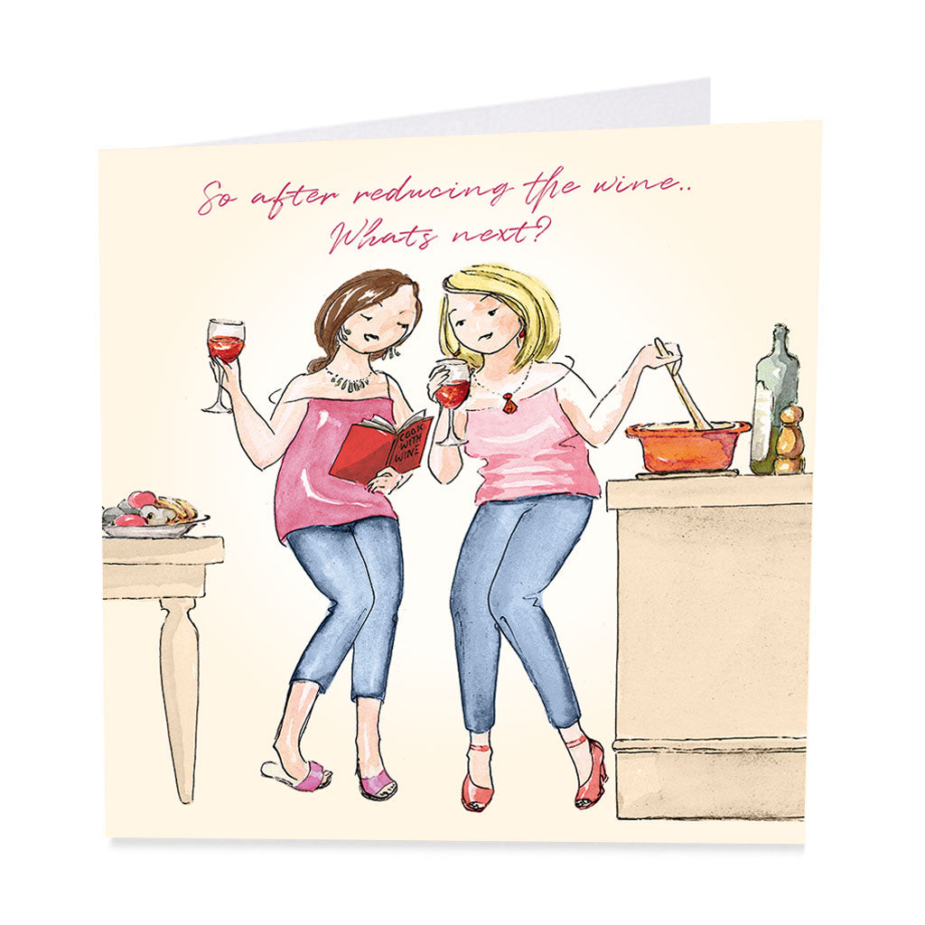 ArtBeat 'Reducing the Wine' Greetings Card