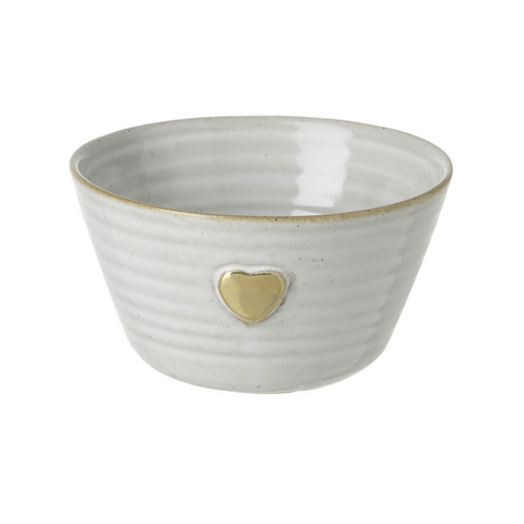 Gold Heart Porcelain Bowl