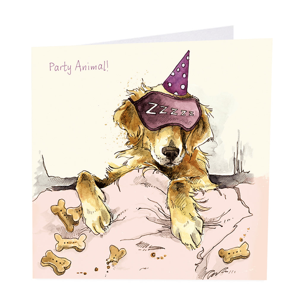 BACK IN STOCK! ArtBeat 'Party Animal' Greetings Card