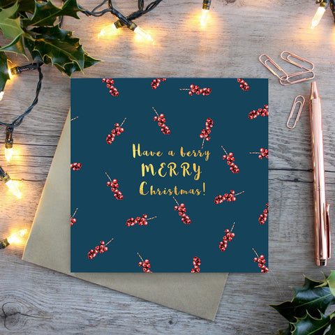 ONLY TWO LEFT! Toasted Crumpet Berry Merry Christmas Card