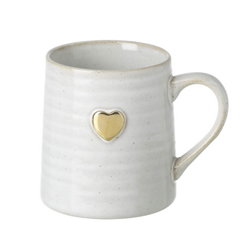 Gold Heart Porcelain Mug