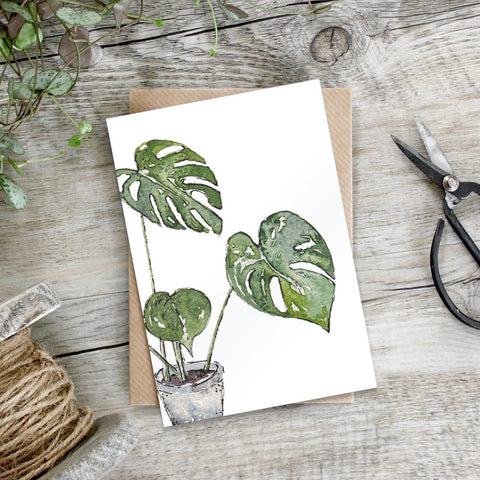 Toasted Crumpet Cheese Plant Greetings Card