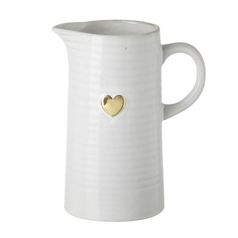 Gold Heart Porcelain Jug