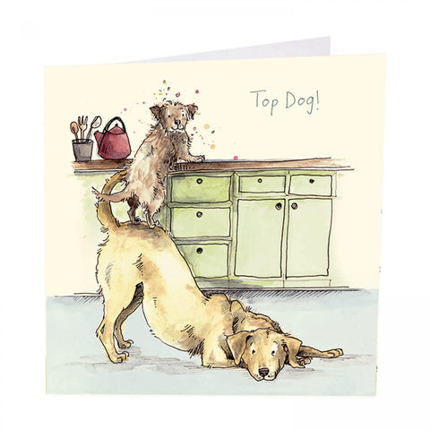 ArtBeat Top Dog Greetings Card
