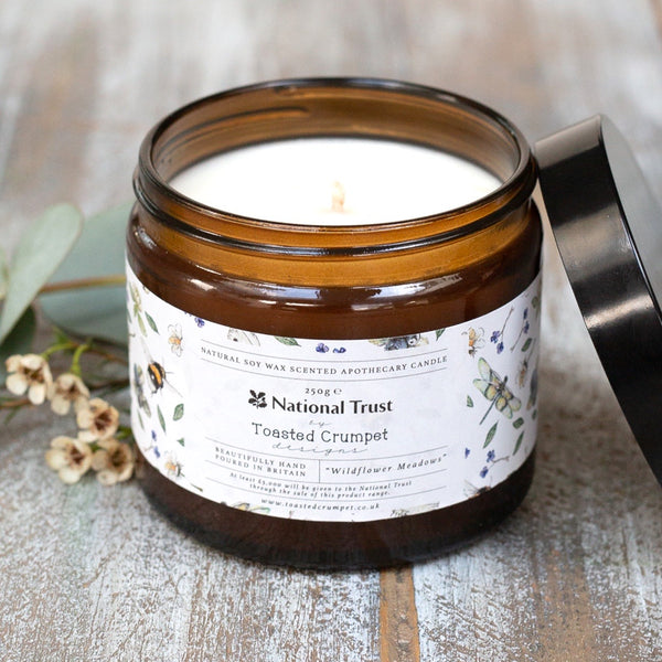 NEW! Wildflower Meadow Apothecary Soy Wax Candle (65hrs)