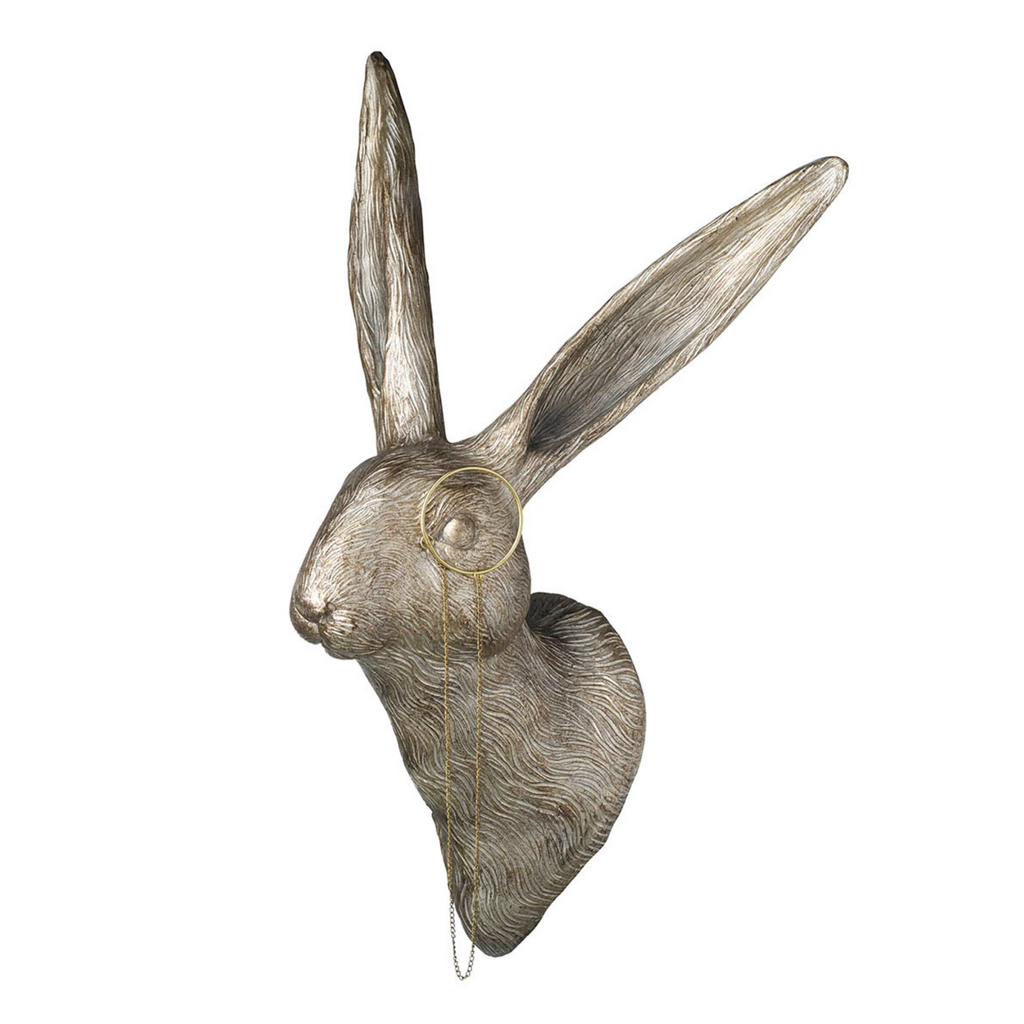 Hare with Monocle Wall Sculpture