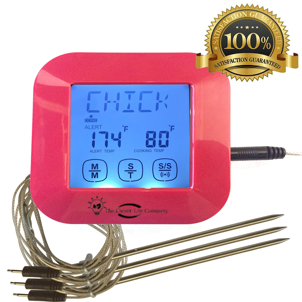 Red Digital Meat Thermometer