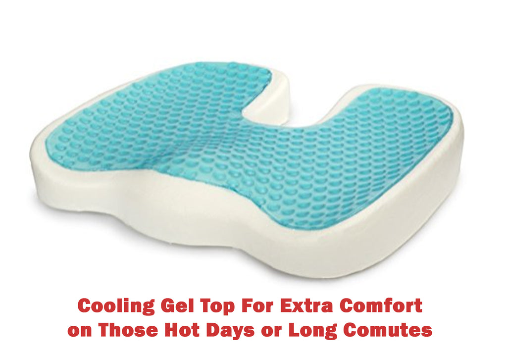 Couples 2 Pack Orthopedic Memory Foam Seat Cushion