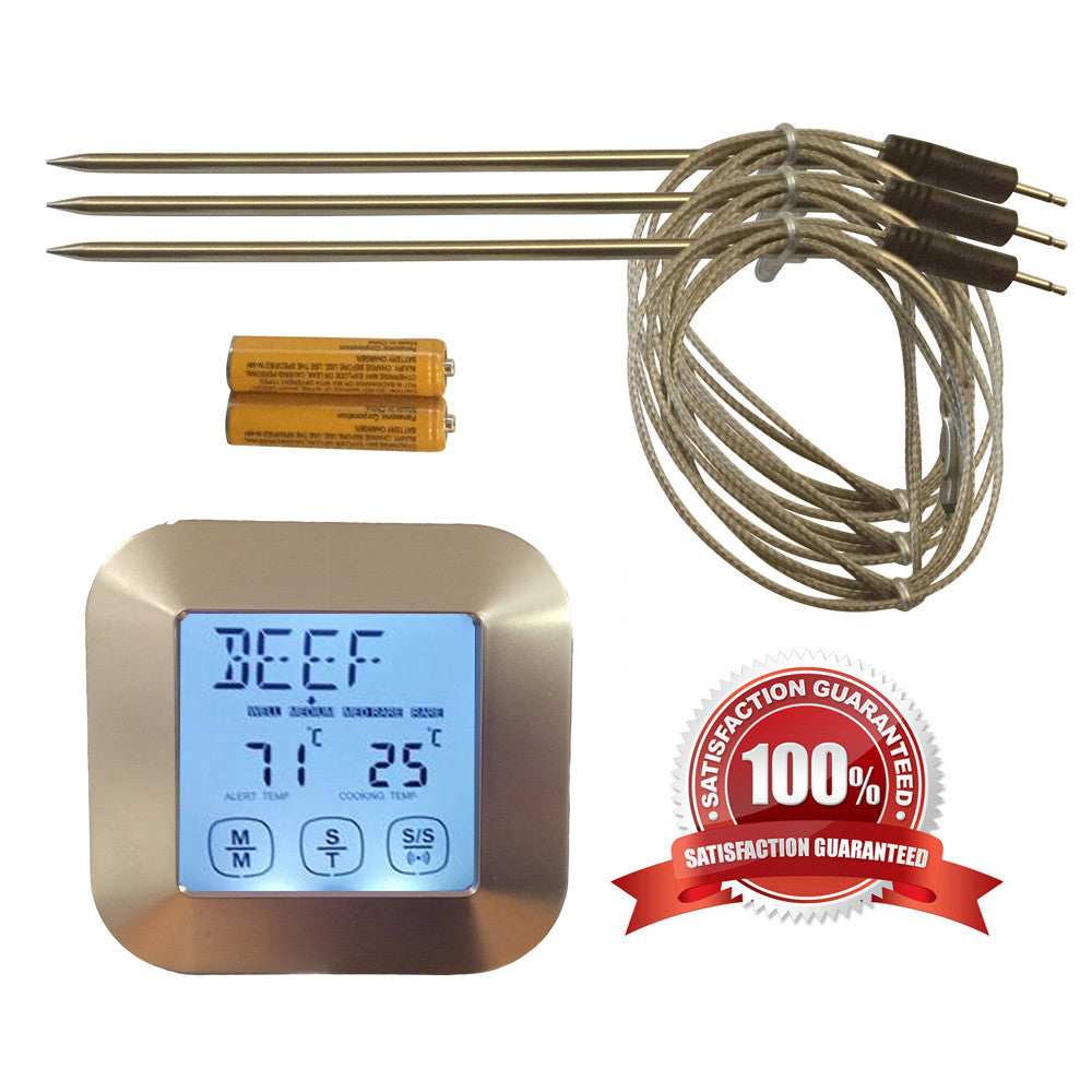 Silver Digital Meat Thermometer
