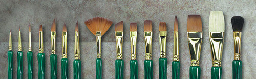 Museum Emerald Brush fan