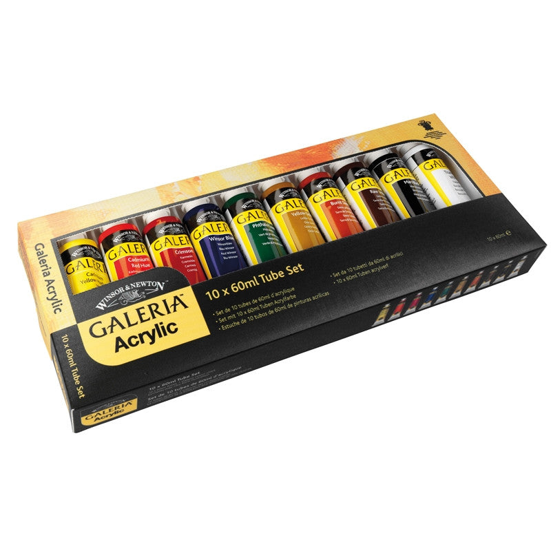 Galeria Acrylic set Winsor and Newton 10 x 60 ml