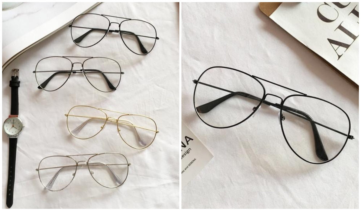 15 Aesthetic Clear Glasses Aviator Clear Glasses itGirl Shop Blog