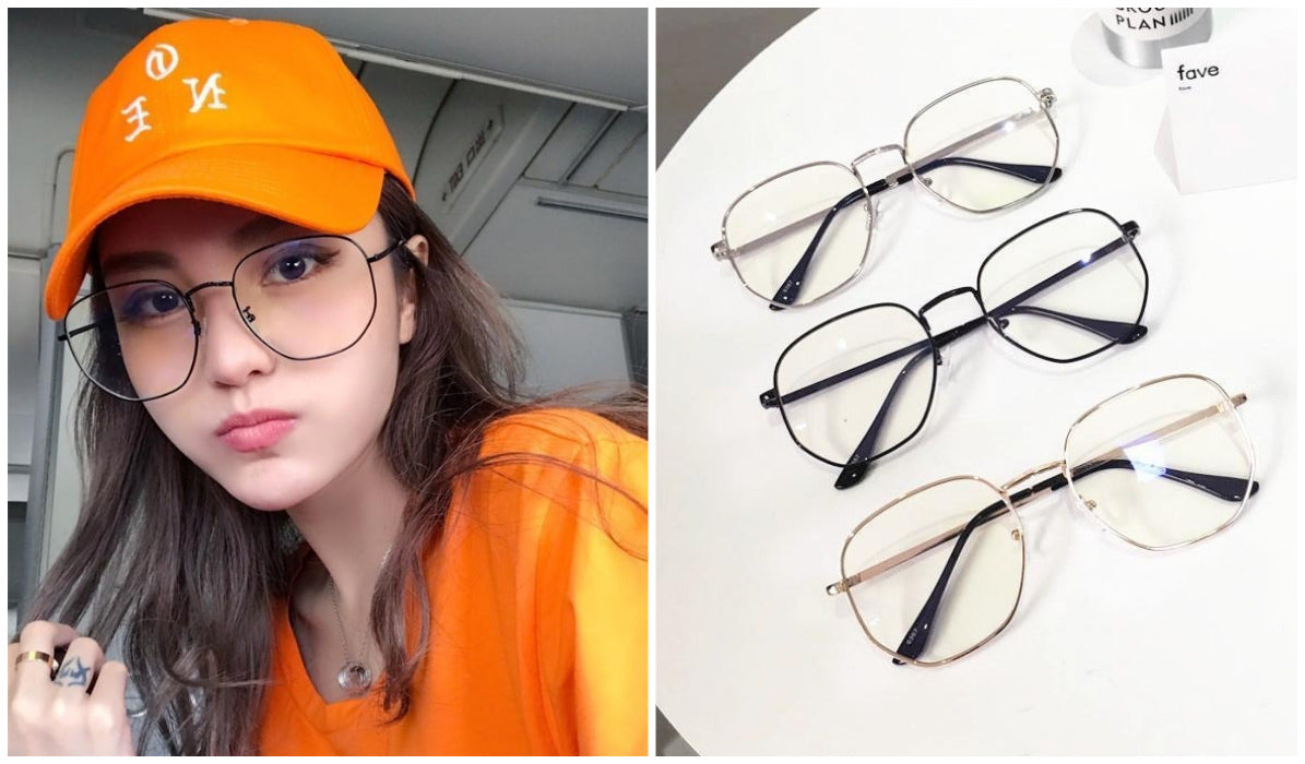 15 Aesthetic Clear Glasses Clear Korean Geometric Glasses itGirl Shop Blog