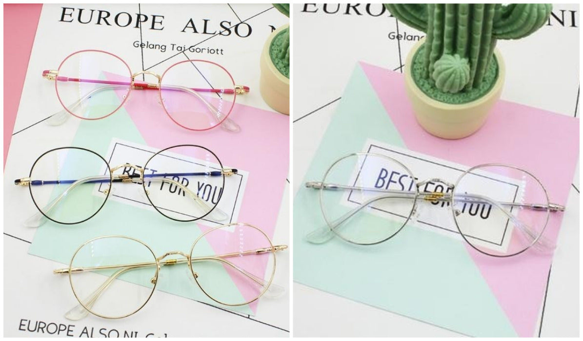 15 Aesthetic Clear Glasses Clear Round Fragile Cute Glasses itGirl Shop Blog