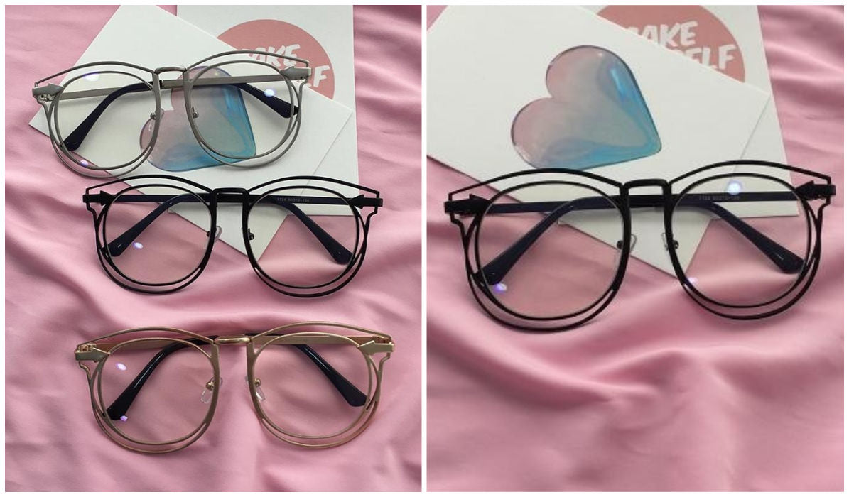 15 Aesthetic Clear Glasses Double Frame Korean Style Glasses itGirl Shop Blog