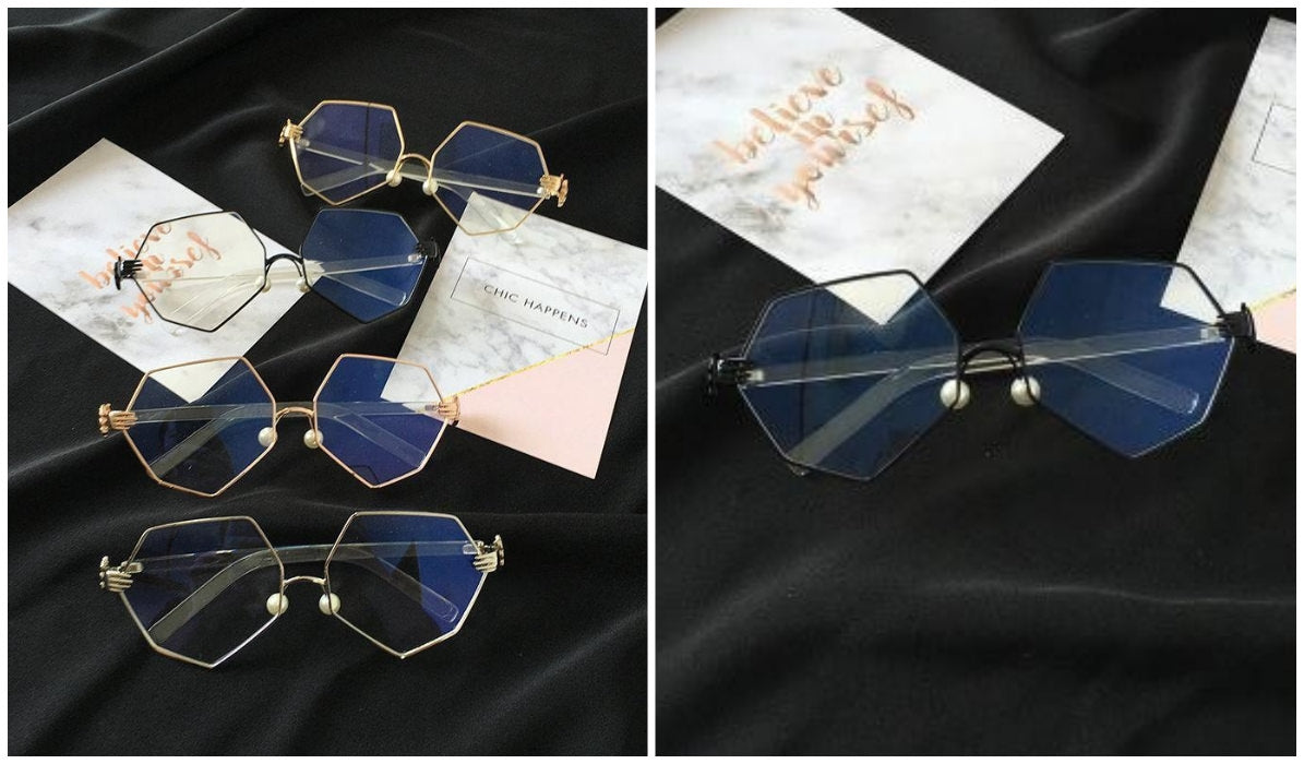 15 Aesthetic Clear Glasses Geometric Metallic Frame Glasses itGirl Shop Blog