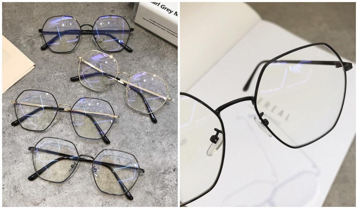 15 Aesthetic Clear Glasses Hexagon Vintage Art Hoe Glasses itGirl Shop Blog