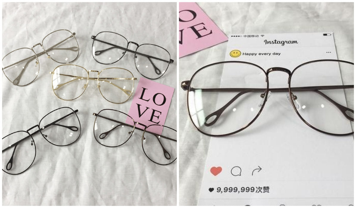 15 Aesthetic Clear Glasses Square Metallic Korean Glasses itGirl Shop Blog