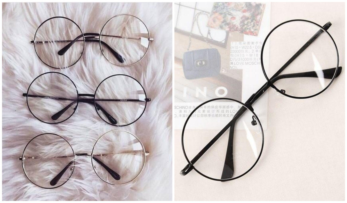 15 Aesthetic Clear Glasses Transparent Circle Round Kpop Glasses itGirl Shop Blog
