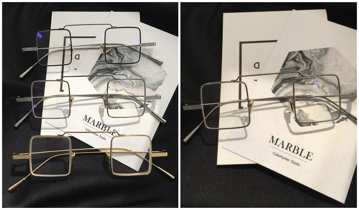 15 Aesthetic Clear Glasses Urban Square Frame Kpop Glasses itGirl Shop Blog