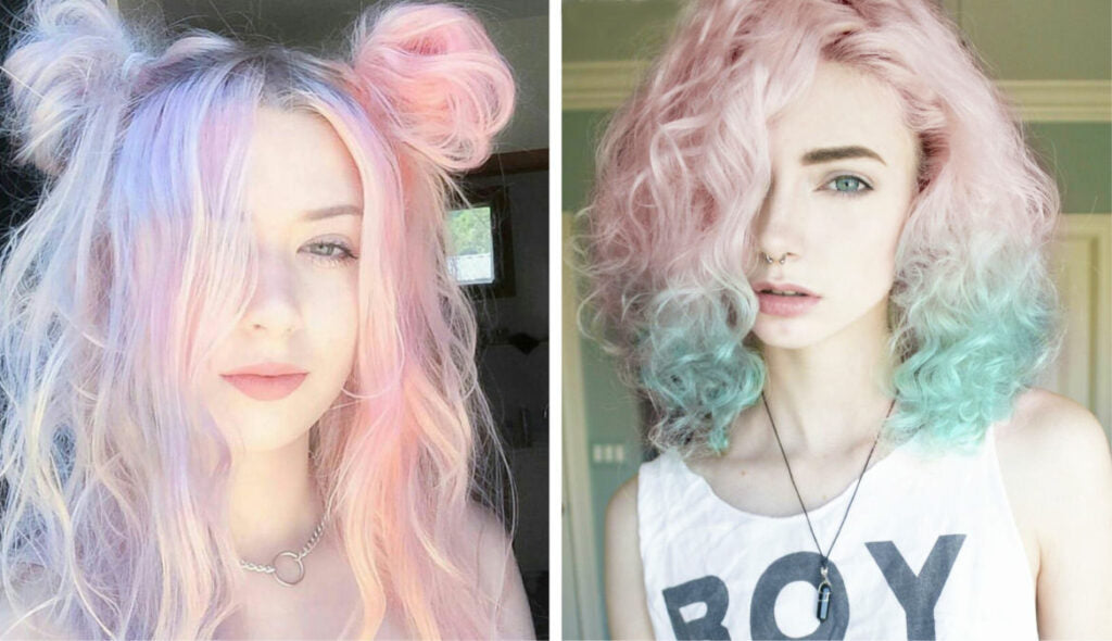 Pastel Goth Hairstyles and Hair colors itGirl Shop | Aesthetic Clothing | Korean Fashion | EGirl Style