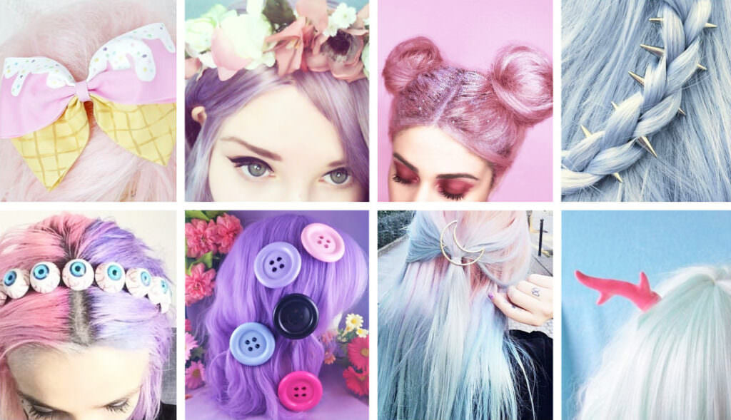 Pastel Goth Hair Accessories itGirl Shop | Aesthetic Clothing | Korean Fashion | EGirl Style