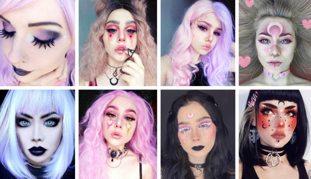 Pastel Goth MakeUp itGirl Shop | Aesthetic Clothing | Korean Fashion | EGirl Style