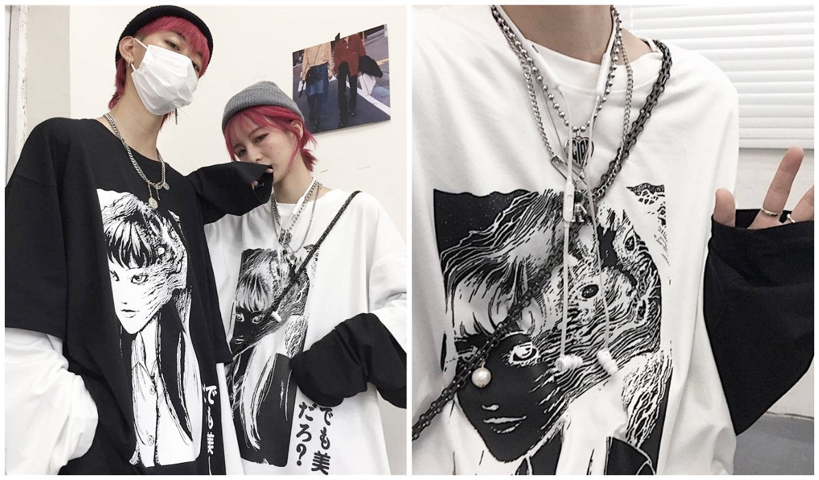 Anime Aesthetic Clothing Compilation Horror Manga Two-Piece T-Shirt itGirl Shop Blog