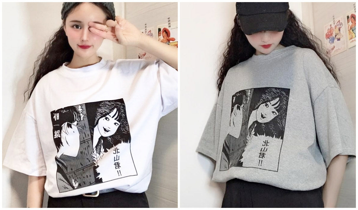 Anime Aesthetic Clothing Compilation Manga Aesthetic Oversized T-shirt itGirl Shop Blog