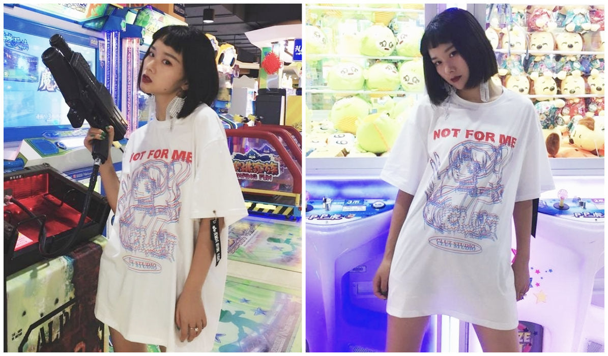 Anime Aesthetic Clothing Compilation Not For Me Clut Studio White T-shirt itGirl Shop Blog