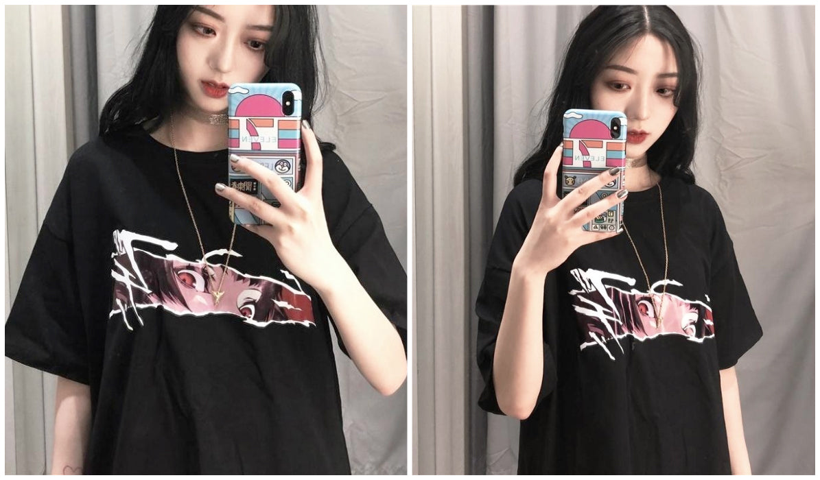 Anime Aesthetic Clothing Compilation Terror Sight Anime Aesthetic T-Shirt itGirl Shop Blog
