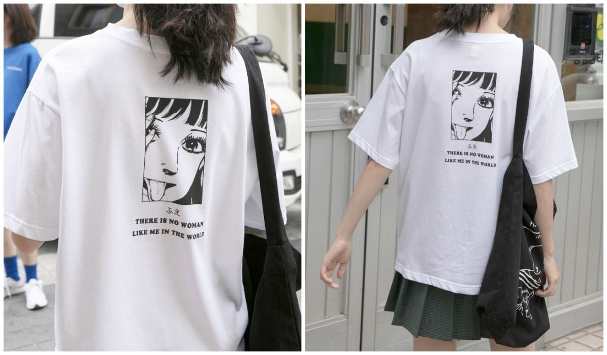 Anime Aesthetic Clothing Compilation There is No Woman Like Me Anime T-shirt itGirl Shop Blog