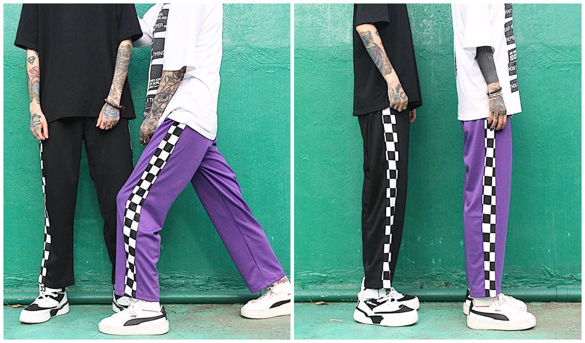 Checkered Grid Outfits Compilation Checkered Grid Side Line Sport Pants itGirl Shop Blog
