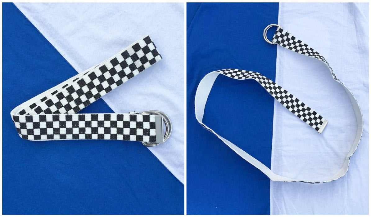 Checkered Grid Outfits Compilation Checkered Grunge Unisex Teenage Belt itGirl Shop Blog