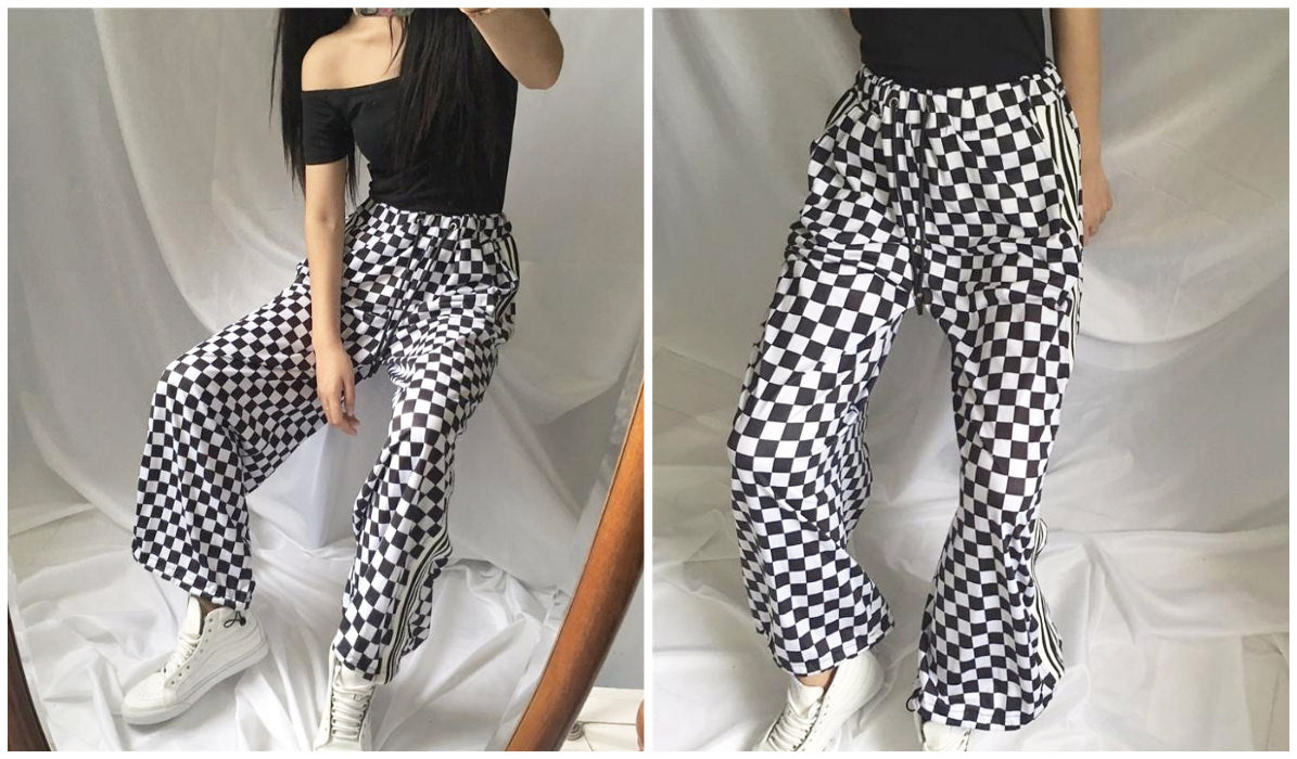 Checkered Grid Outfits Compilation Grunge Checker Grid Sport Pants itGirl Shop Blog