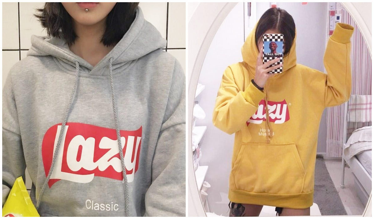 Top 11 Aesthetic Hoodies Lazy Classic Aesthetic Hoodie itGirl Shop Blog