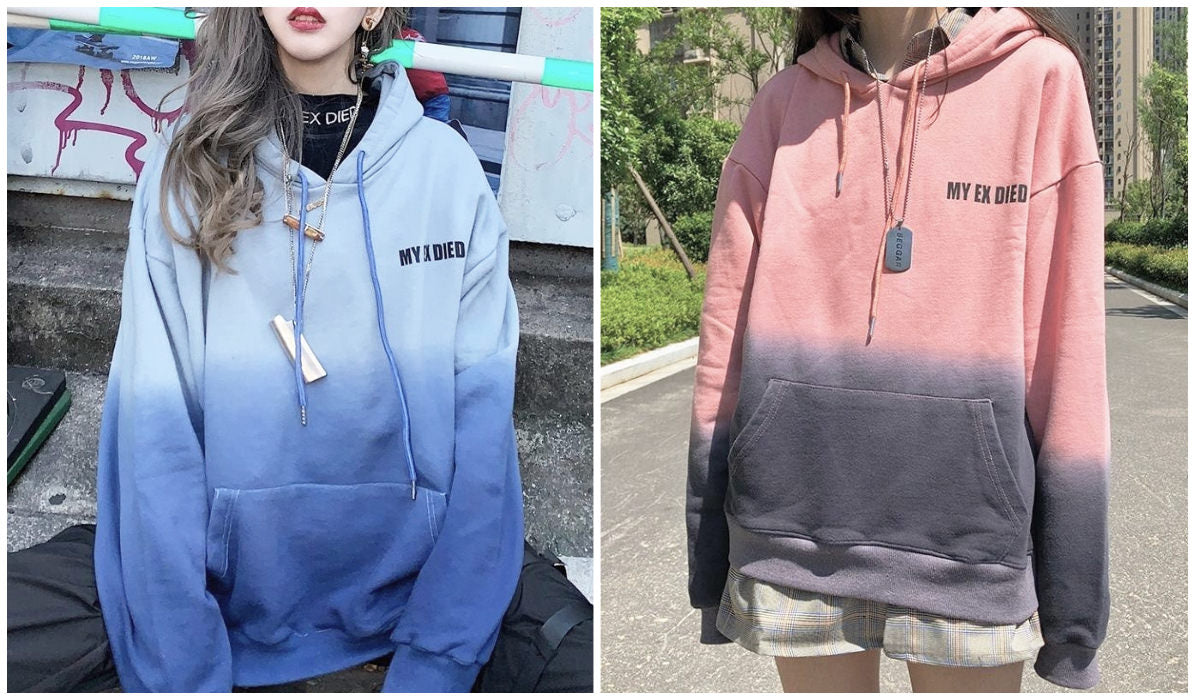 Top 11 Aesthetic Hoodies My Ex Died Gradient Pastel Hoodie itGirl Shop Blog
