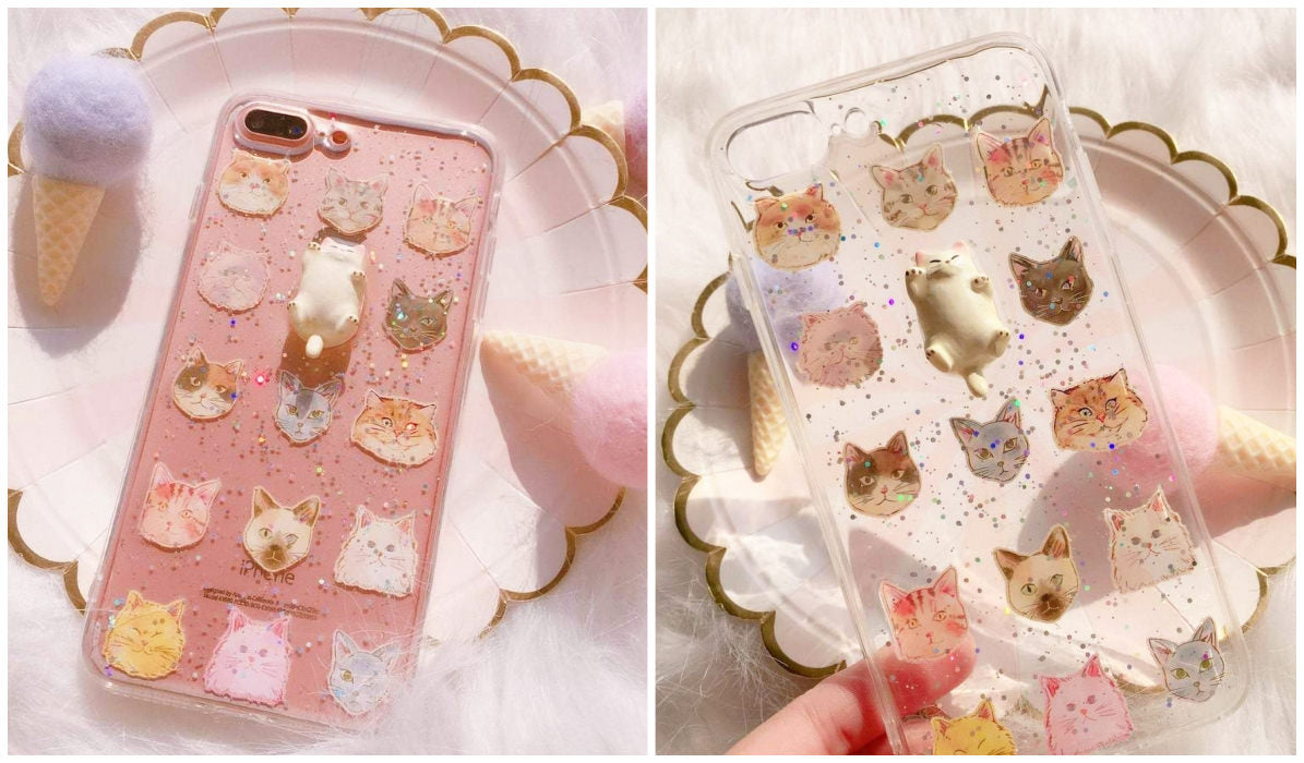 Transparent iPhone Cases Cute Fat Cat Pattern iPhone Case itGirl Shop Blog