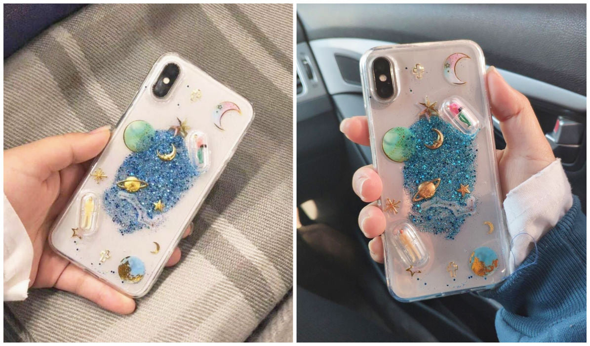 Transparent iPhone Cases Glitter Planets Transparent iPhone Case itGirl Shop Blog