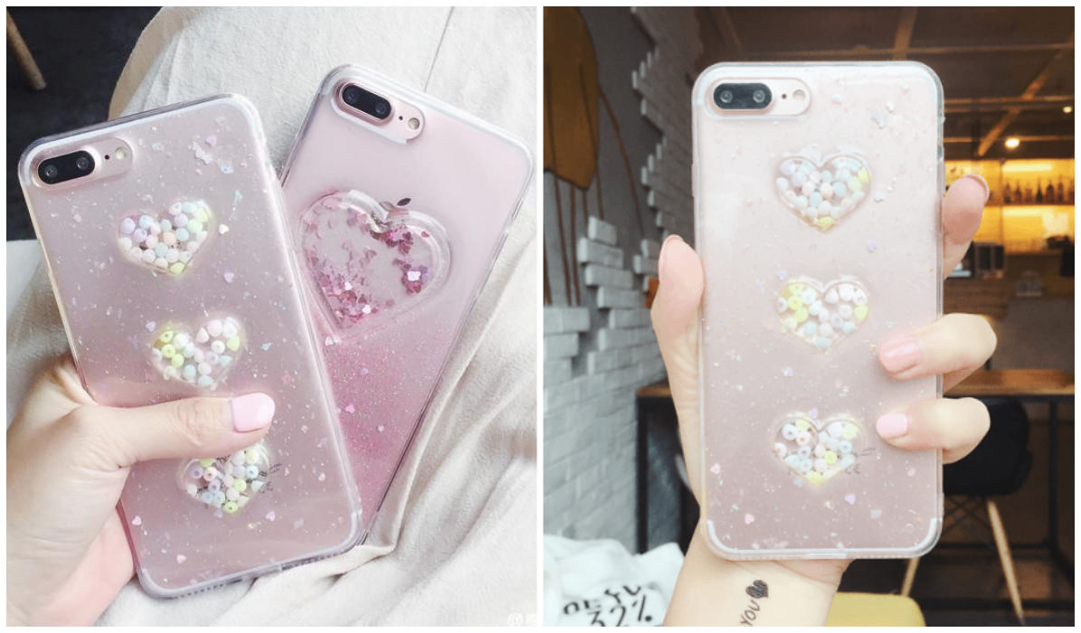 Transparent iPhone Cases Transparent 3D Heart iPhone Cover itGirl Shop Blog