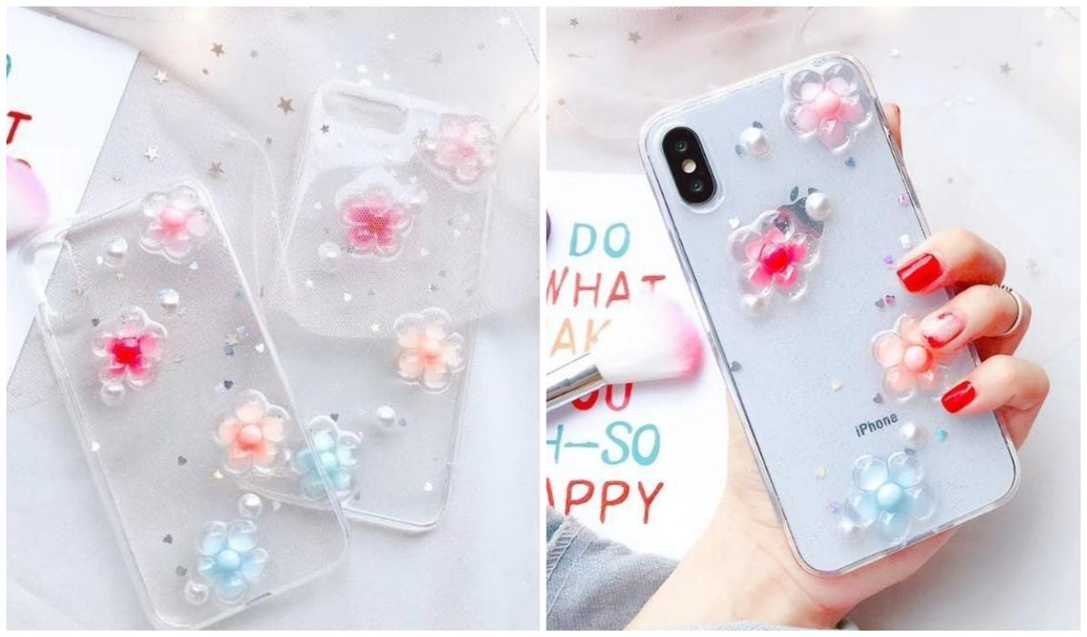 Transparent iPhone Cases Transparent 3D Sakura iPhone Case itGirl Shop Blog