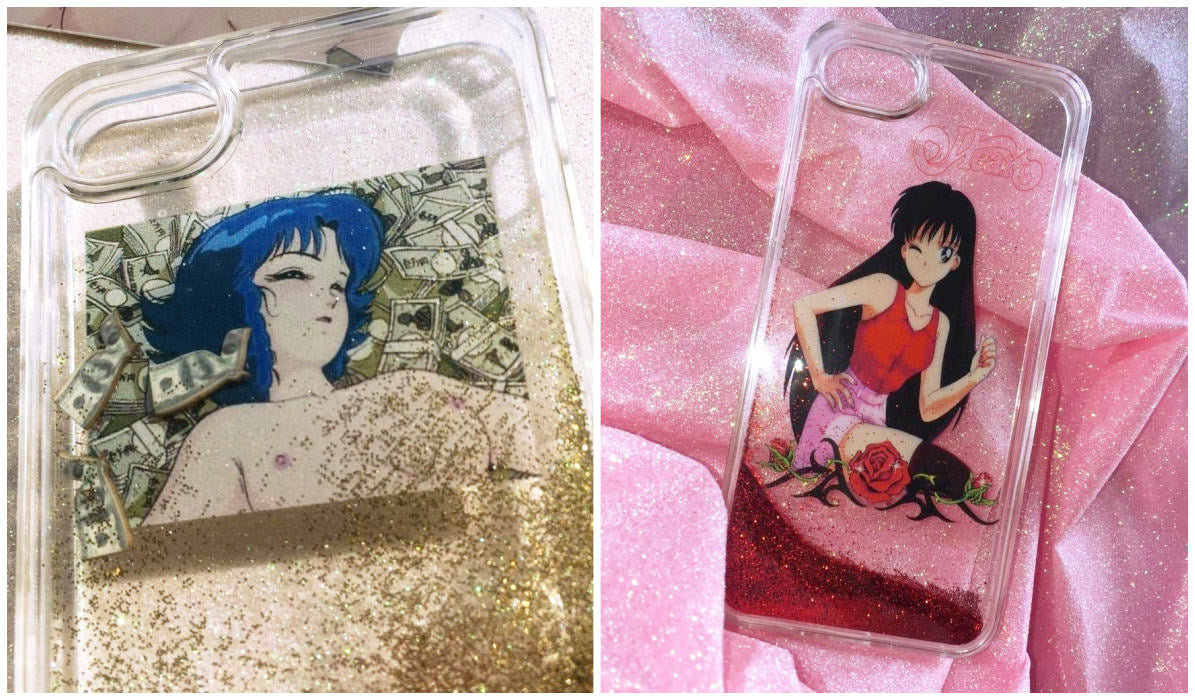 Transparent iPhone Cases Transparent Anime Glitter iPhone Case itGirl Shop Blog