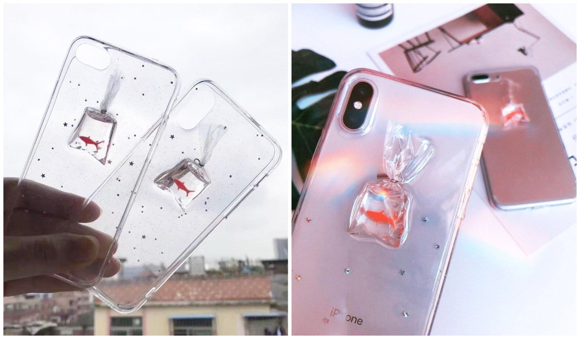 Transparent iPhone Cases Transparent Goldfish Bag iPhone Case itGirl Shop Blog