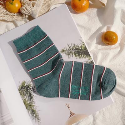 itGirl Shop AESTHETIC THIN LINES PINK GREEN COTTON ANKLE SOCKS