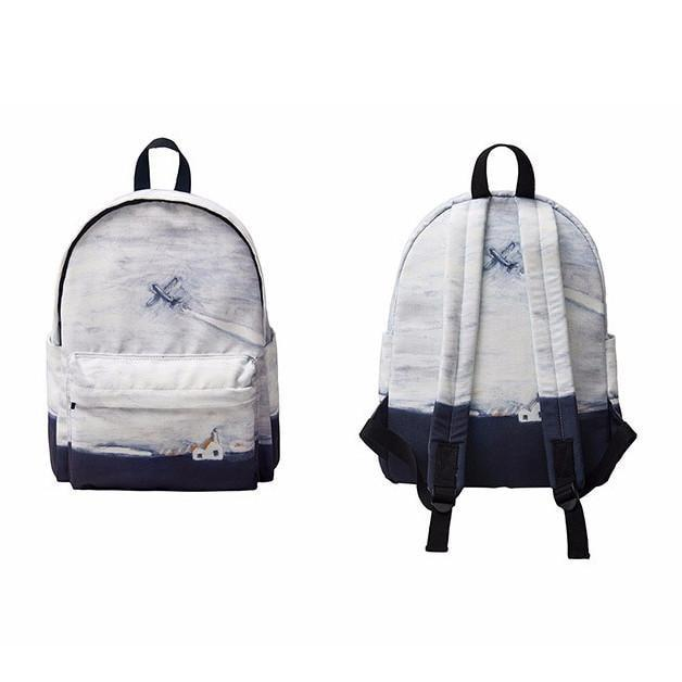 itGirl Shop ALASKA CARTOON PRINT BACKPACK