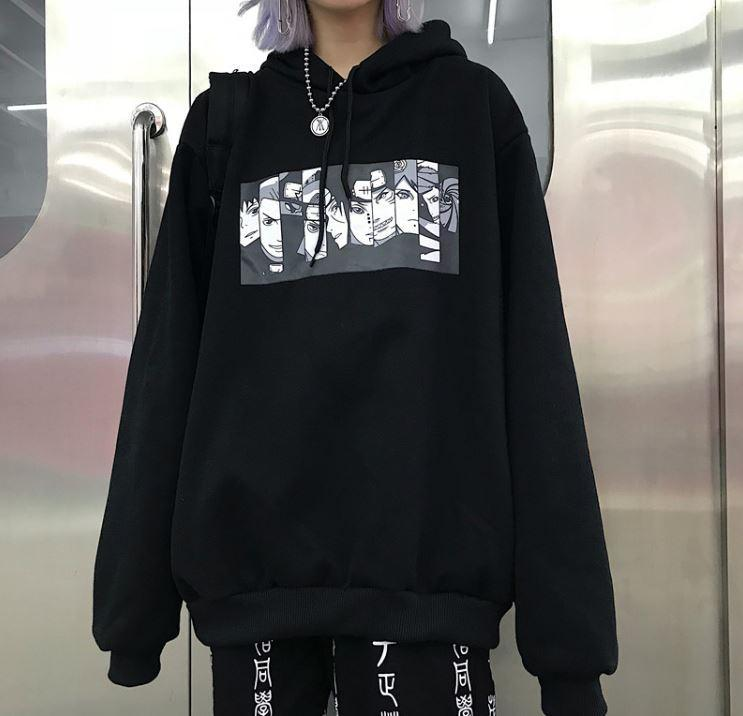 itGirl Shop ANIME COMIC CARTOON PRINTED OVERSIZED HOODIE