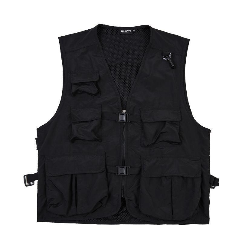 itGirl Shop ARMY GREEN BLACK KOREAN AESTHETIC CARGO VEST