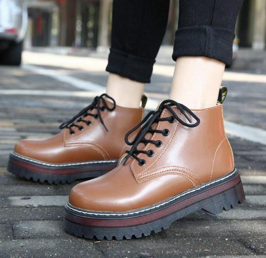 itGirl Shop AUTUMN AND WINTER PLATFORM VINTAGE BOOTS Aesthetic Apparel, Tumblr Clothes, Soft Grunge, Pastel goth, Harajuku fashion. Korean and Japan Style looks