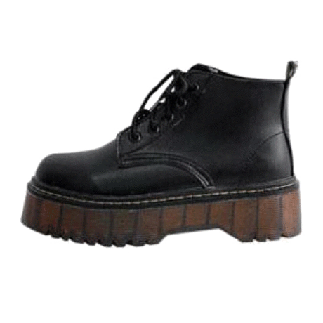 itGirl Shop AUTUMN AND WINTER PLATFORM VINTAGE BOOTS